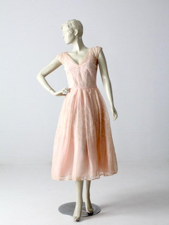vintage 50s dress, Filco pink tea dress