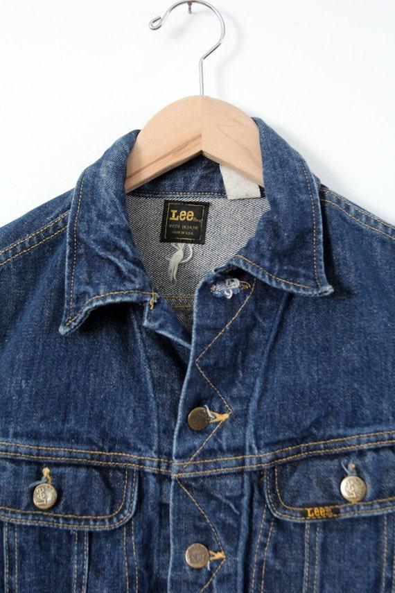 1970s Lee denim jacket ptd 153438, vintage jean j… - image 2
