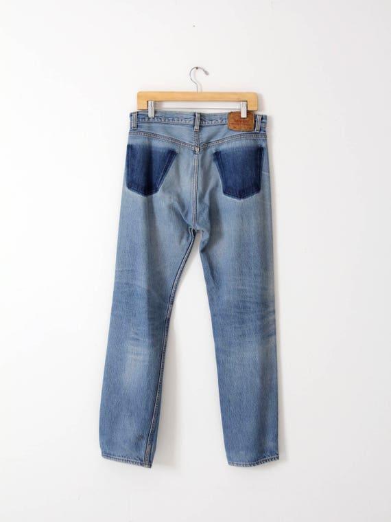 Levis 501 jeans, vintage 501s, 33 x 31