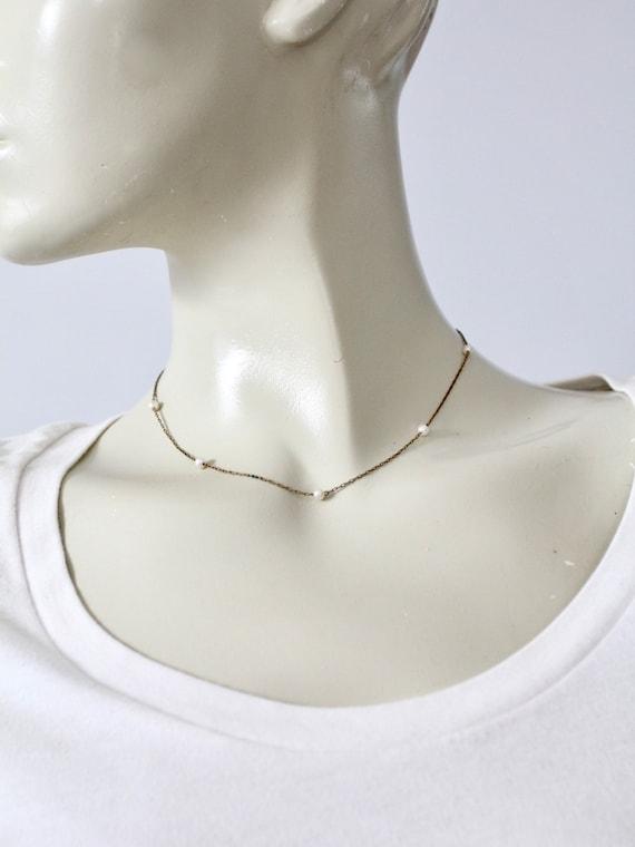 vintage faux pearl chain necklace - image 6