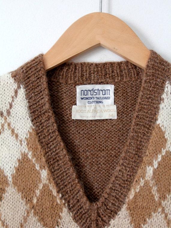 vintage Nordstroms alpaca sweater vest, argyle ve… - image 5