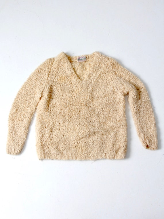 vintage 60s mohair sweater, Sears Italian knit cr… - image 6