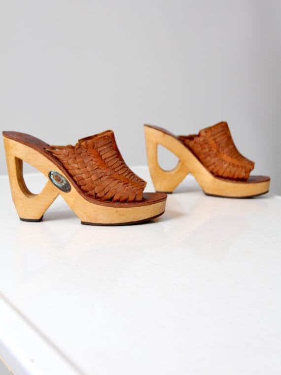 vintage 70s woven platforms, Shoes & Stuff by Fran