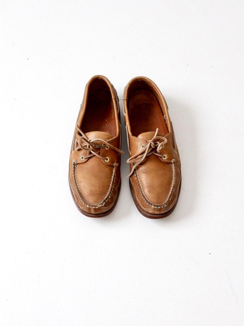 Vintage boat shoes Sebago Docksides leather loafers  a734daf660a