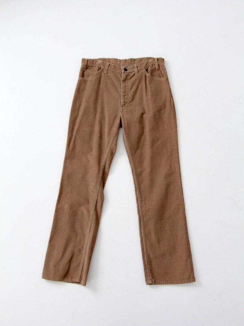 Vintage 70s Cords Brown Straight Leg Corduroys 35 X 31