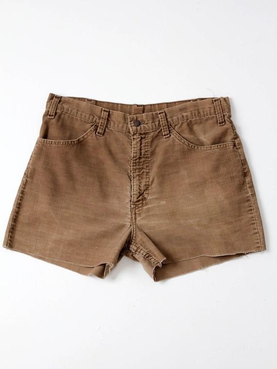 Levi's corduroy shorts, vintage cord cut-offs