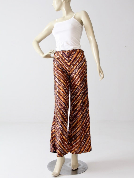 vintage Missoni pants, knit sequin wide leg pant