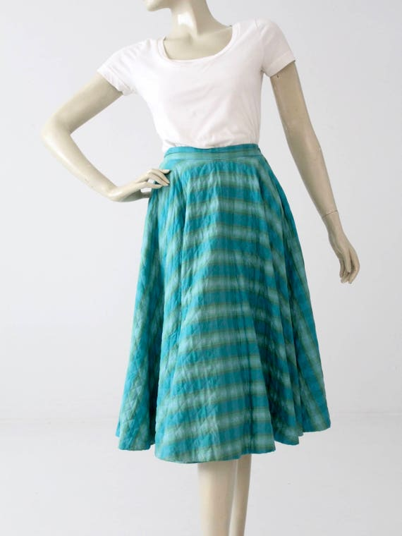 vintage 50s quilted circle skirt - image 2