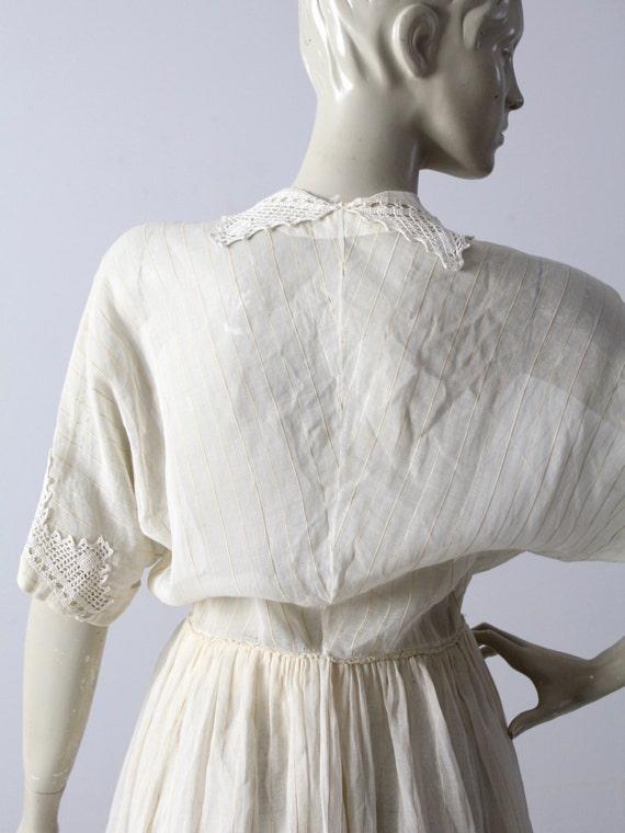 Edwardian tea dress, 1900s ivory dress - image 5
