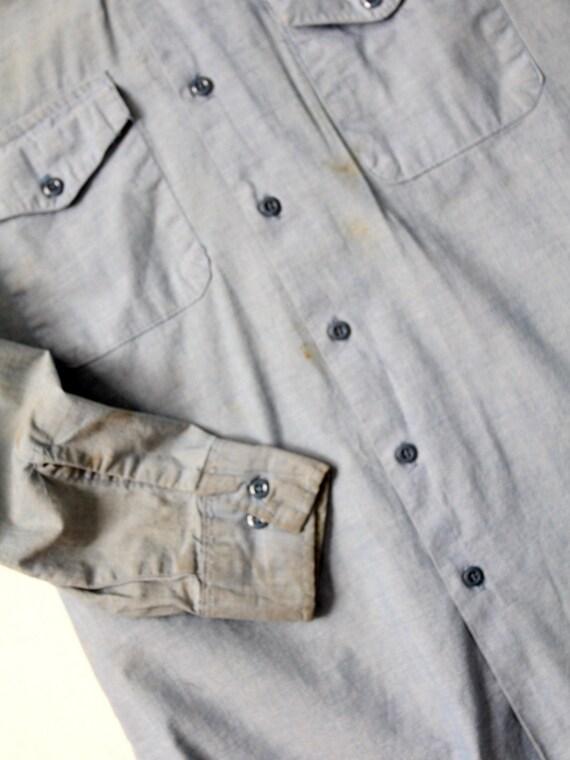 vintage Seafarer men's chambray utility shirt - image 5