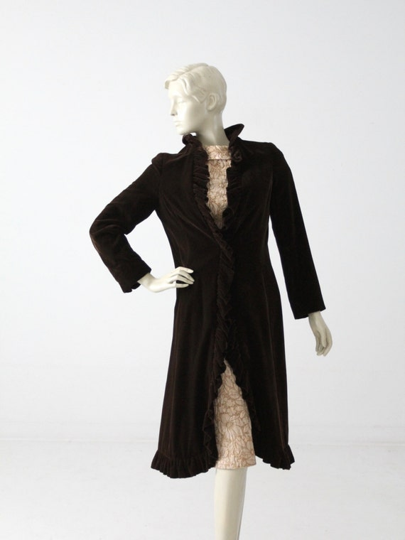 1950s velvet opera coat by Miss Bergdorf