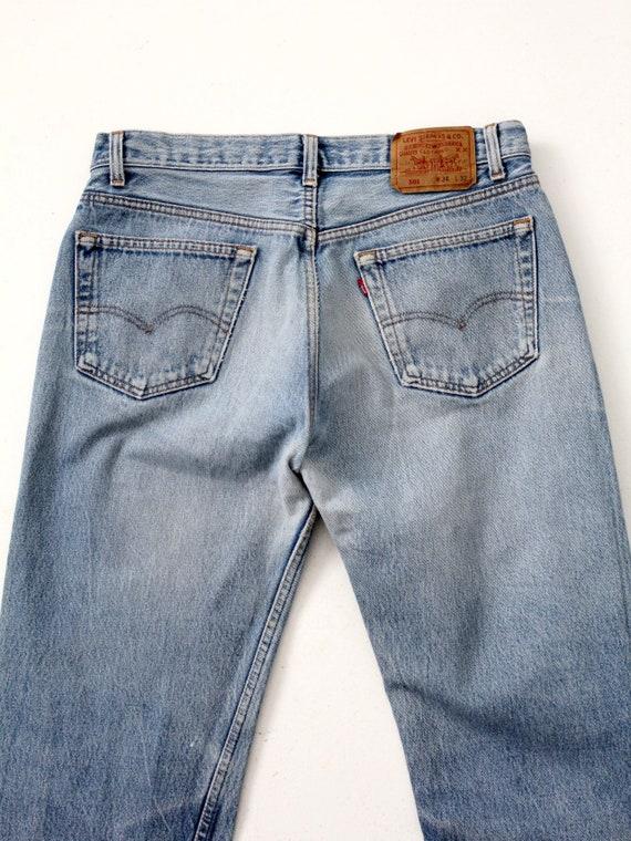 vintage 501 Levi's denim jeans, distressed Levis … - image 8