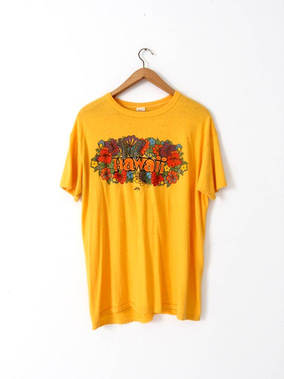 f4f3f42d3f vintage Hawaii t-shirt, 1970s Hawaii graphic tee