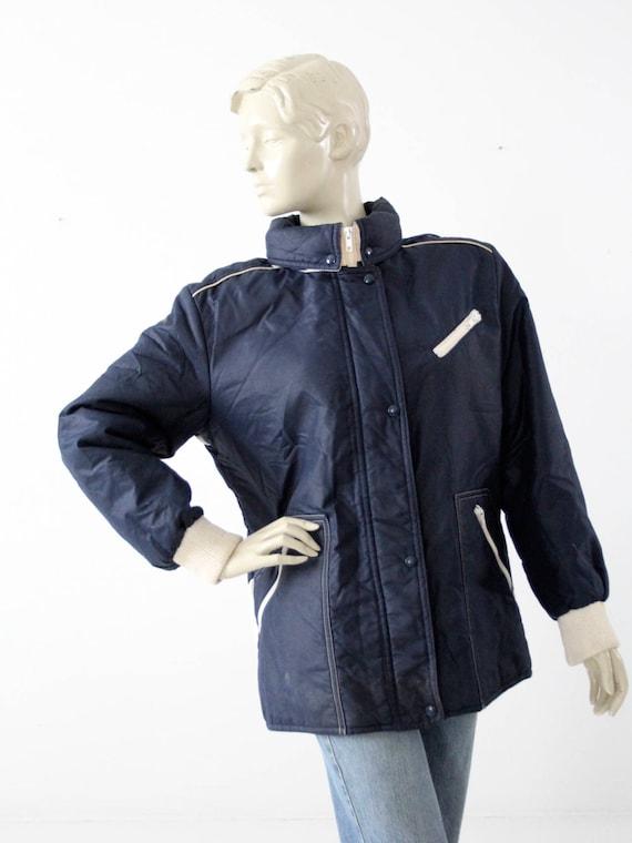 1980s puff jacket, Winter Olympics coat, French ski jacket