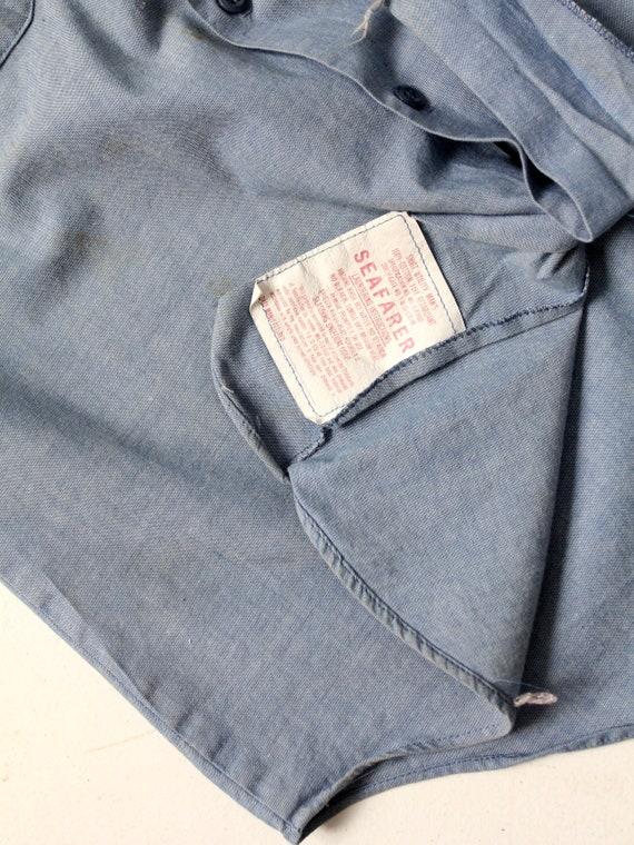 vintage Seafarer men's chambray utility shirt - image 6