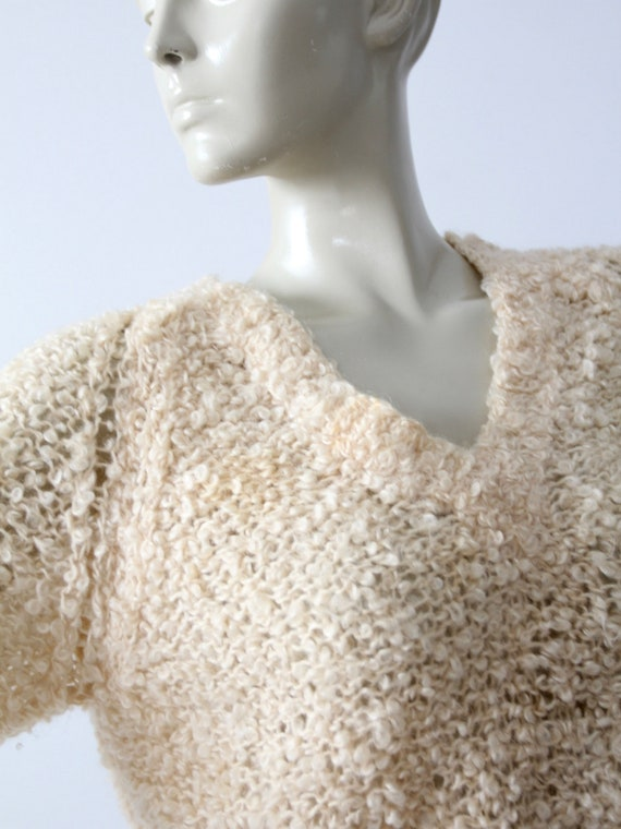 vintage 60s mohair sweater, Sears Italian knit cr… - image 3