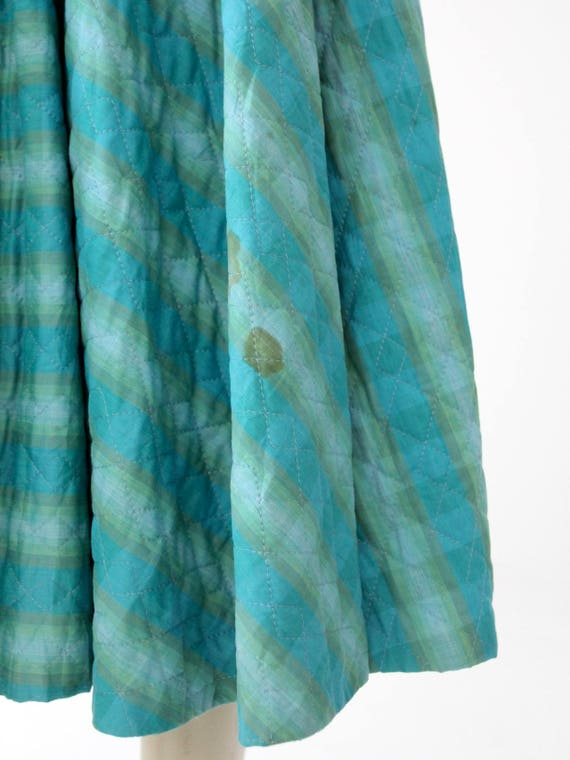 vintage 50s quilted circle skirt - image 4