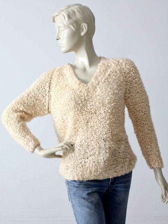 vintage 60s mohair sweater, Sears Italian knit cr… - image 2