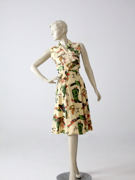 1950s western skirt and blouse by Panhandle Slim