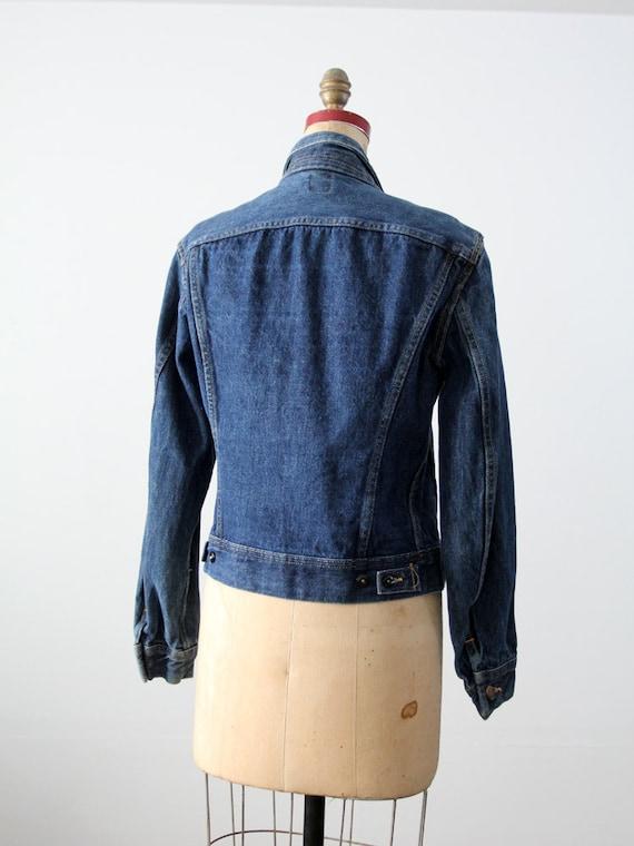 1970s Lee denim jacket ptd 153438, vintage jean j… - image 5