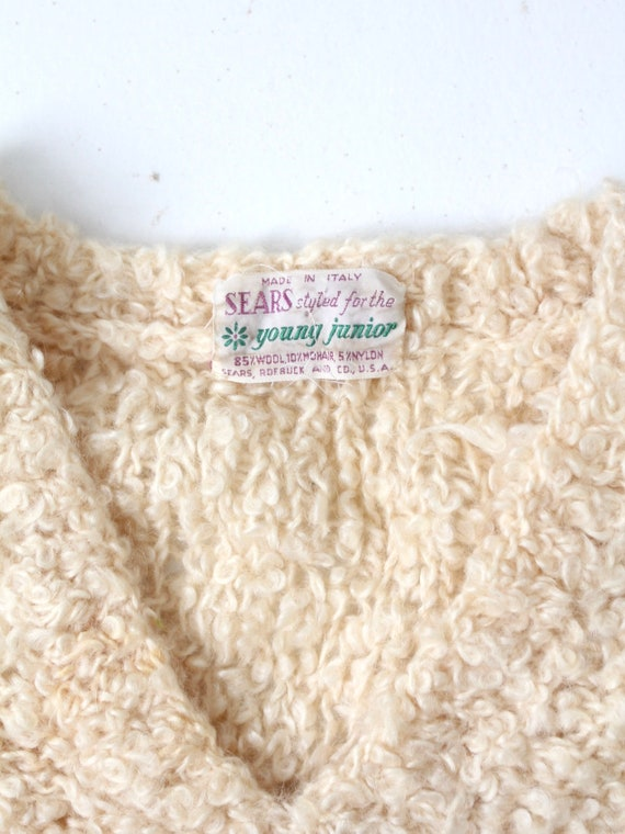 vintage 60s mohair sweater, Sears Italian knit cr… - image 7