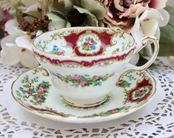 English Teacup Set, Foley Bone China Teacup, Tea Cup and Saucer Set, Made in England, c1936, Vintage Tea Party