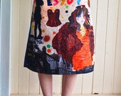 Digital Print Cotton Poplin A-Line Skirt by Sarah Beetson