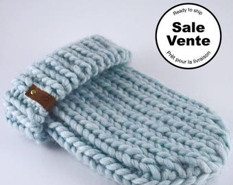 SALE  / The Ribbed Beanie in light blue / Ready to ship