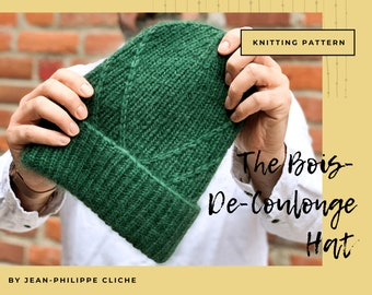 The Bois-De-Coulonge hat - A Knitting pattern only (not finished hat) (Provided in English and French)