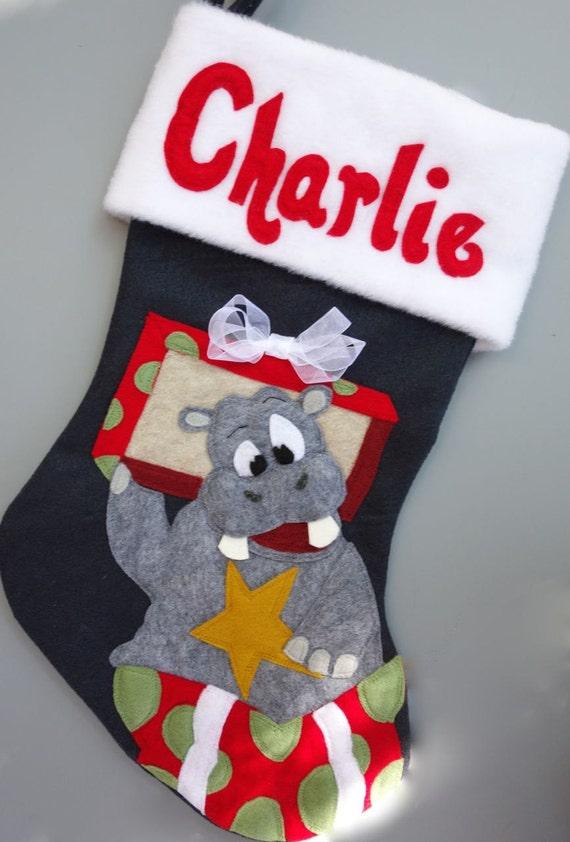 I Wanna Hippopotamus For Christmas.Christmas Stockings For Girl Or Boy I Wanna Hippopotamus For Christmas