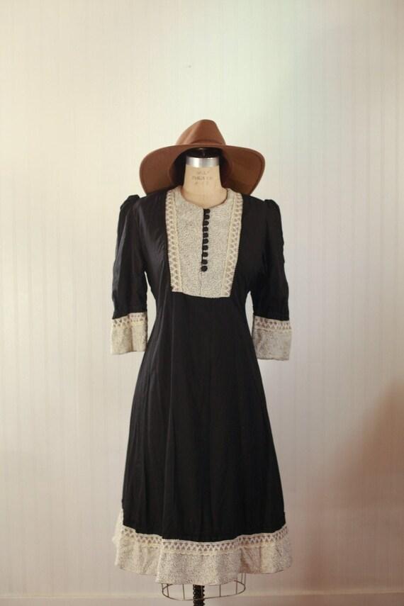 cotton puff sleeve dress - large