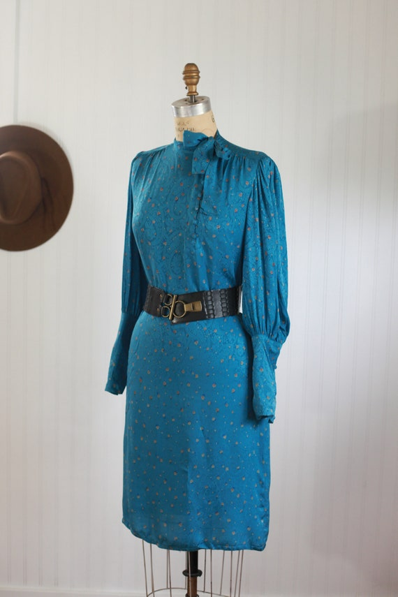 silk francesca of damon bishop sleeve dress - s - image 6