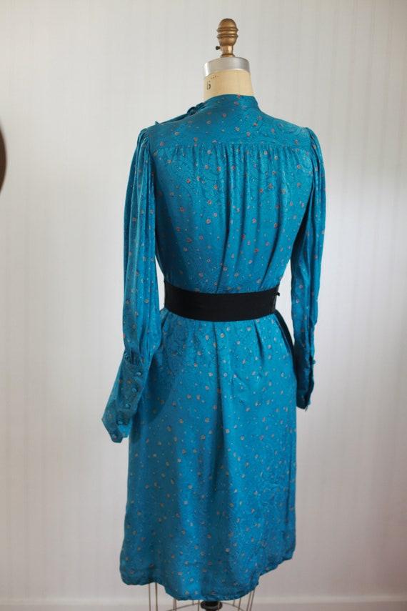 silk francesca of damon bishop sleeve dress - s - image 8