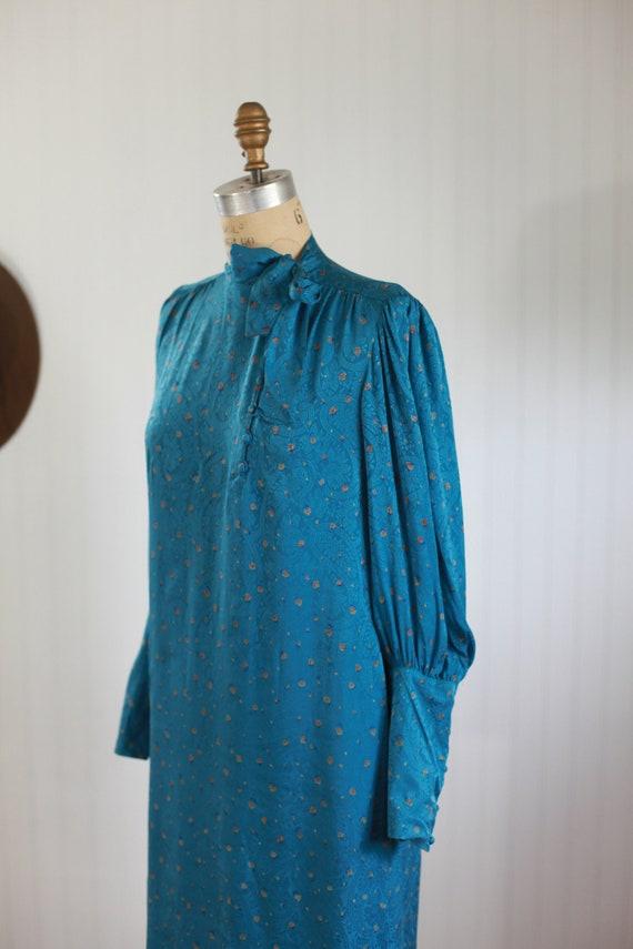 silk francesca of damon bishop sleeve dress - s - image 5