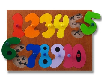 Wooden Puzzle with Knobs | Counting Numbers