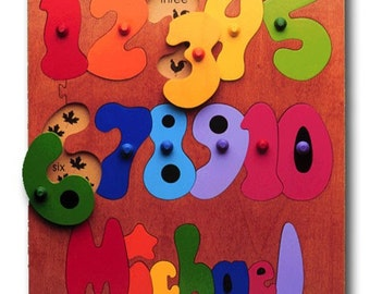 Personalized Wooden Name Puzzle | Counting Ten Numbers