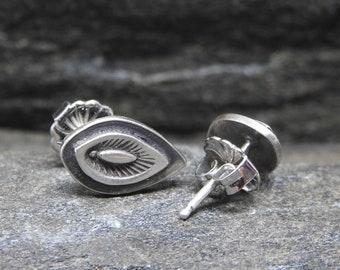 Sterling Silver Stud Earrings, Post Back Earrings, Artisan Made, Sterling Silver, Studs, Eye Shape, Every Day, Modern Earrings, Silver Studs