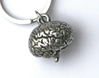 3- D brain Key chain