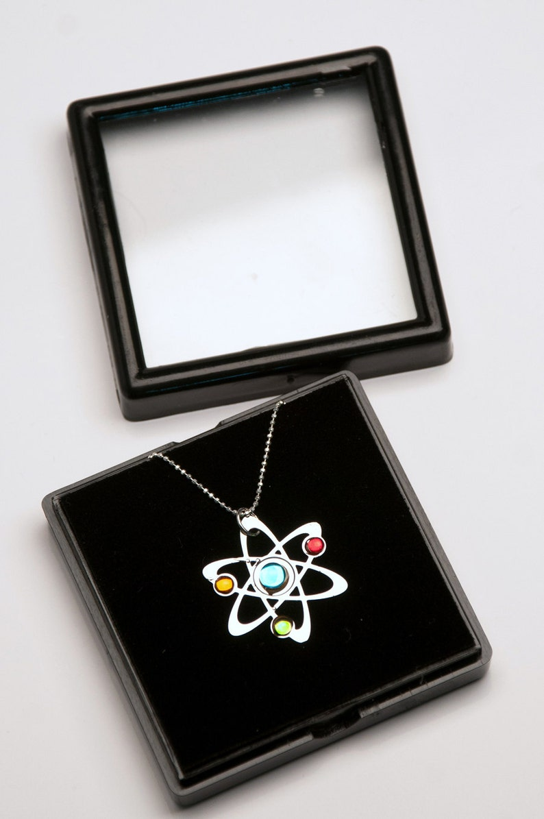 3 Stone Science Symbol necklace image 0
