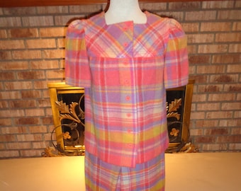 Vintage 60s Bobbie Brooks Wool Plaid Pantsuit RARE!