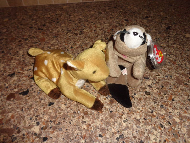 44408444f19 RARE Retired Ty Beanie Babies Whisper the Fawn Deer and