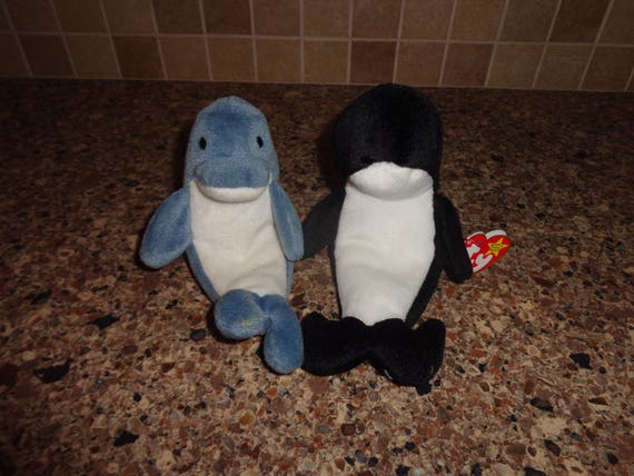 RARE Tag Mistake Retired Ty Beanie Babies Echo the Dolphin  70986544ef62