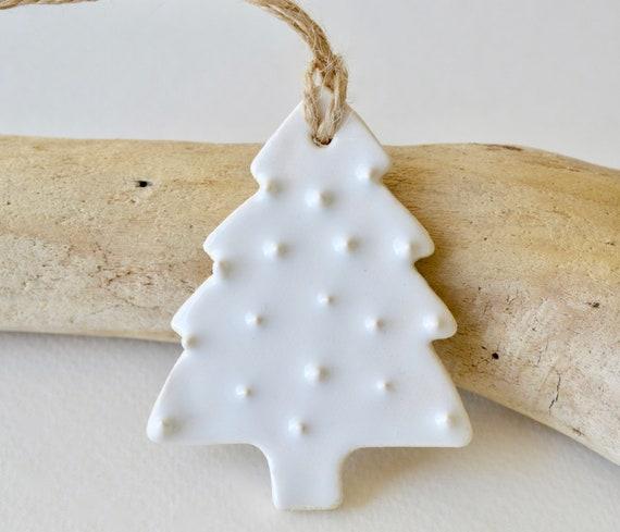 Ceramic Christmas Ornaments White Christmas Ornaments White Christmas Tree White Christmas Tree Decorations White Ceramic Ornaments 1030