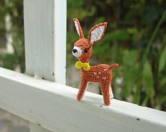Mini fawn- Crochet stuffed animal - Amigurumi miniature