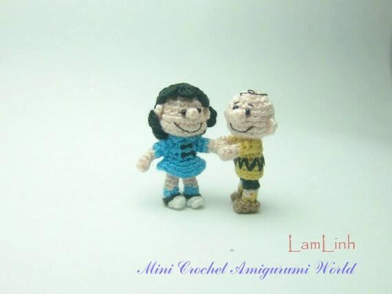 1 Zoll Puppe paar Miniatur crochet Amigurumi Puppe kleine