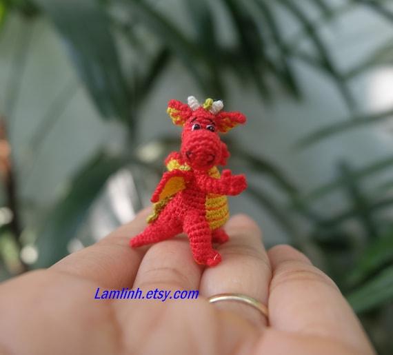 Puppenhaus Dekor 1 14 Zoll Kleinen Häkeln Drachen Etsy