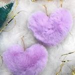 Groove is in the Heart faux fur statement earrings