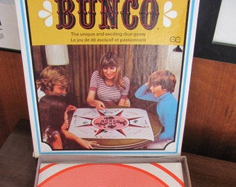 """Vintage 60's """"Bunco"""" Board Game - The Copp Clark Publishing Company - 1960's - Game Night - 60's Dice Game"""