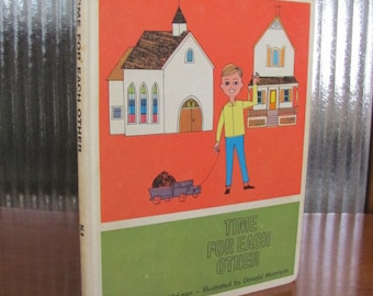 """Vintage 1964 """"Time for Each Other"""" United Church of Canada Curriculum K1 Book - Children's Book - Religion - Children's Sunday School"""
