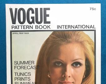 Vogue Pattern Book International Magazine Sewing Patterns April May 1969 Designer Fashion Ephemera